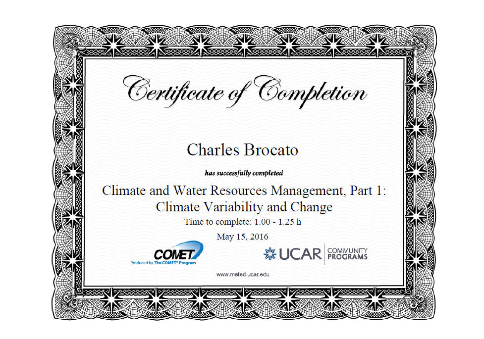 Climate & Water Resources Management, Part I: Climate Variability And Change!