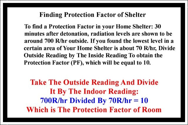 Finding The Protection Factor Of A Room In Your Shelter!