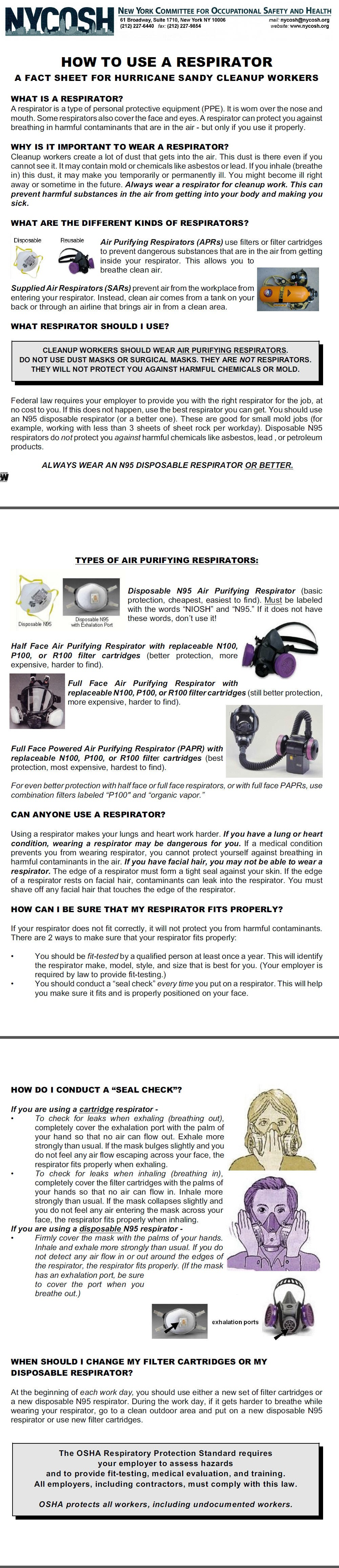 How To Use A Respirator_NYCOSH