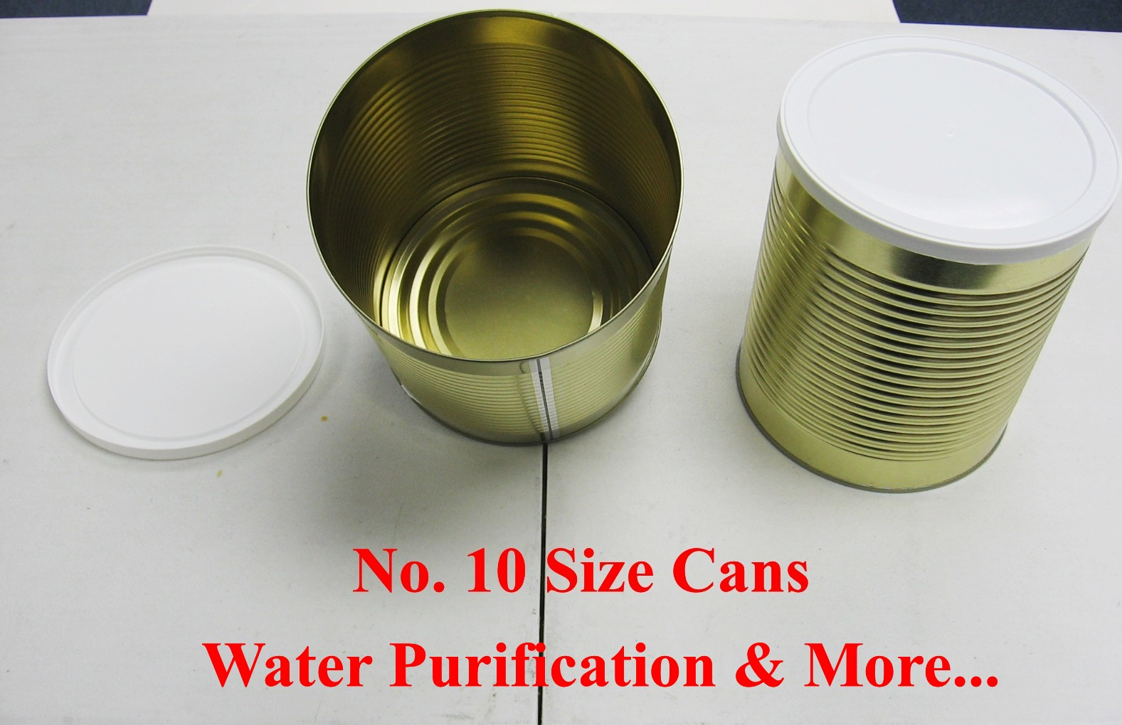 No. 10 Cans With Lid