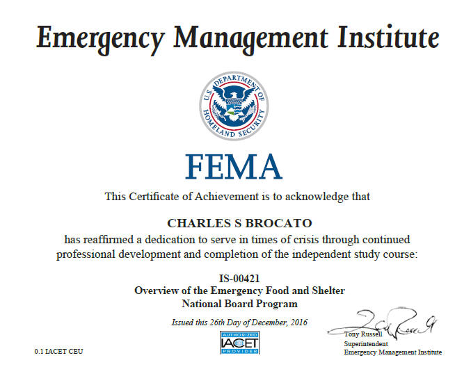 Overview of Emergency Food & Shelter National Board Programf