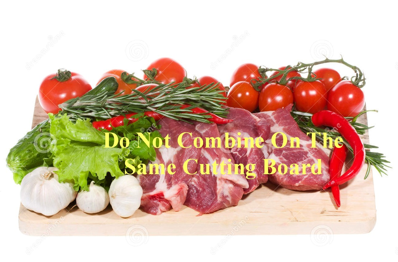 Meat & Vegetables Do Not Mix On Same Cutting Board...Unless All Are Going Into Pressure Cooker!